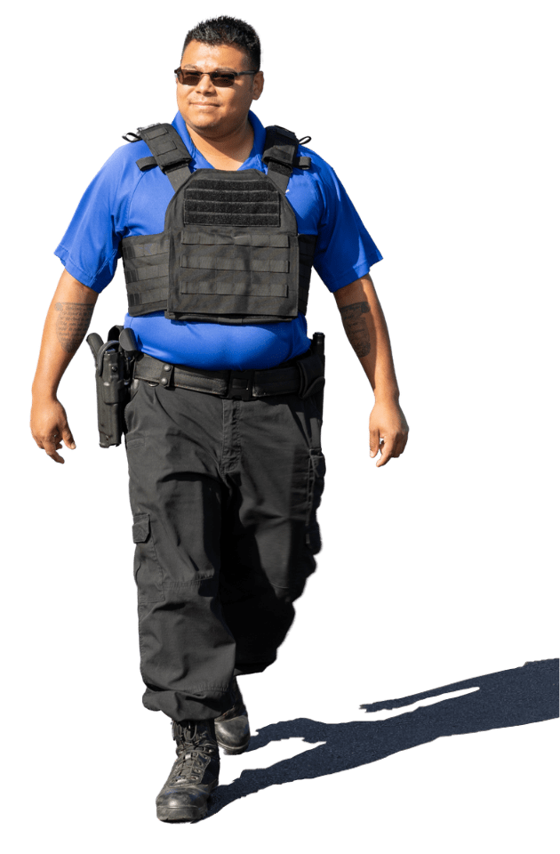 BPS Corporate Security-- Guard at work