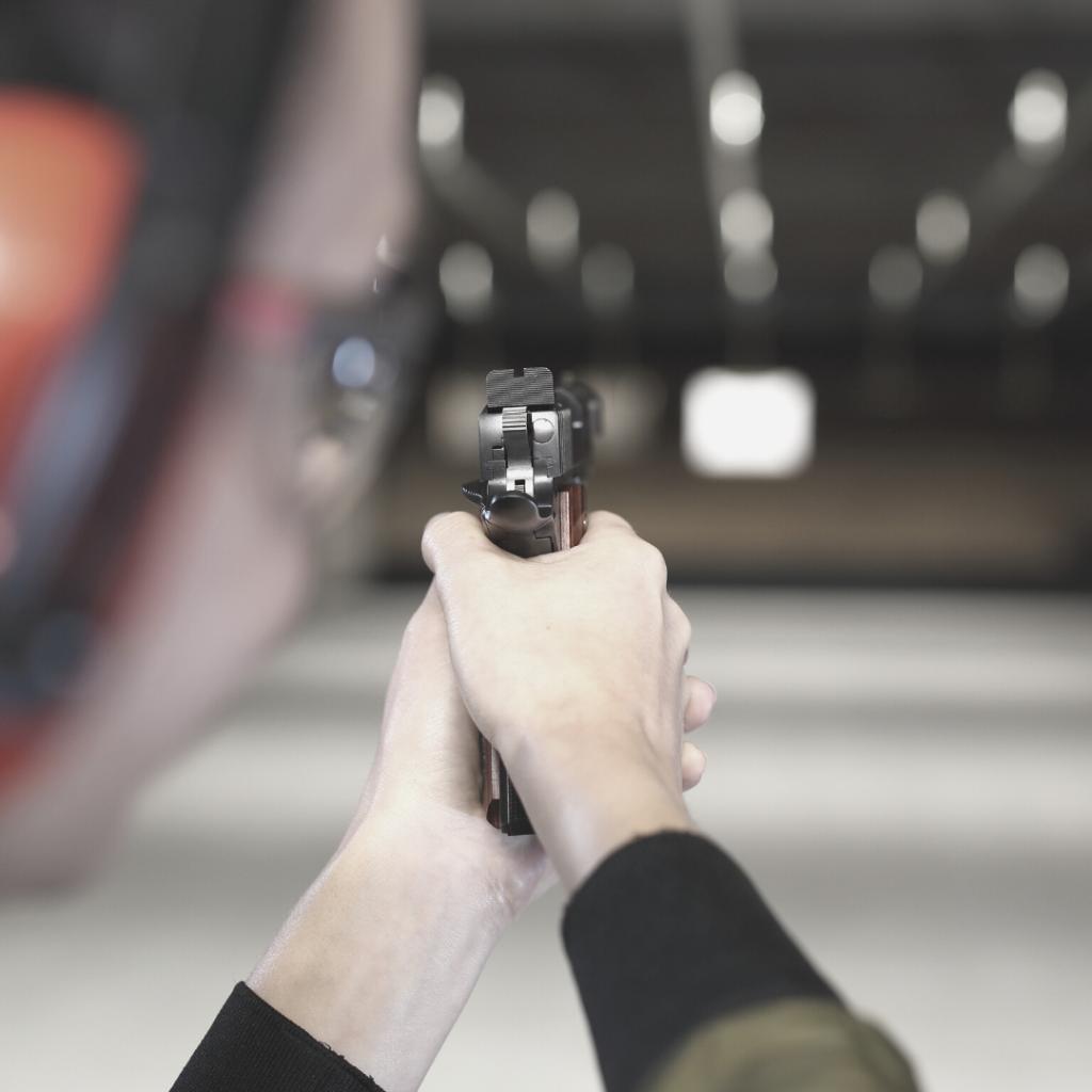 Executive Security at Gun Range Improving their Shooting Skills